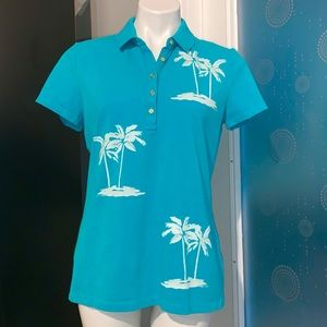 Tommy Hilfiger Polo Aqua Short Sleeves Shirt Top